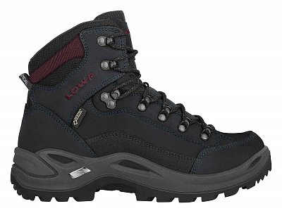LOWA RENEGADE GTX MID Ws black/burgundy UK 3
